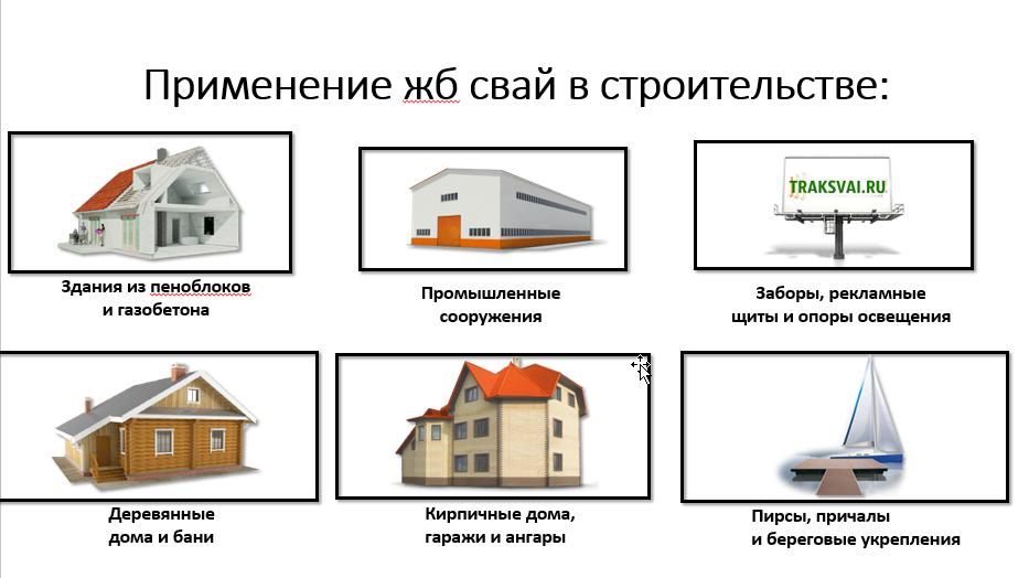 применение жб свай в строительстве